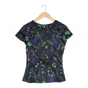 Zara Black Printed Blouse