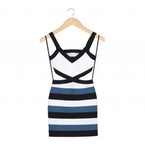 BCBG Multi Colour Striped Sleeveless Mini Dress