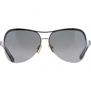 Tory Burch Black And Grey Aviator Sunglasses