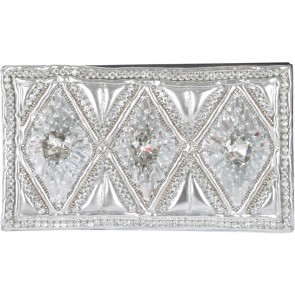 Balmain X H&M Silver Beaded Clutch