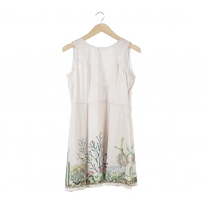 Ensemble Cream Floral Cross Back Mini Dress