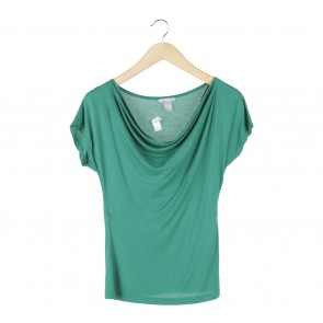 H&M Green Draped Blouse