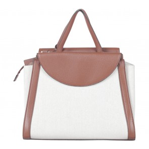 Kate Spade Saturday Cream And Brown Satchel
