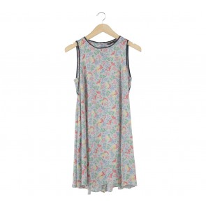 Zara Multi Colour Floral Sleeveless Mini Dress