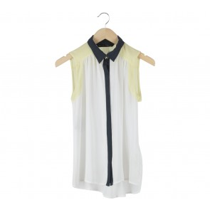 Zara Off White Sleeveless