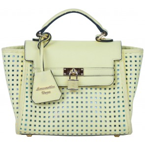 Samantha Vega Yellow Perforated Sling Bag