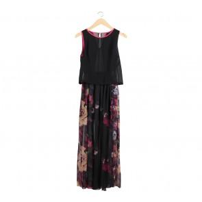 Lazada Black Floral Long Dress