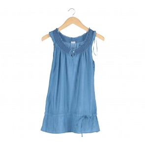 Esprit Blue Sleeveless Mini Dress