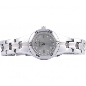 Fossil Silver And White Round Watch