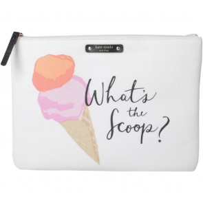Kate Spade Off White Flavor Of The Month Ice Cream Gia Clutch, What´s The Scoop Pouch