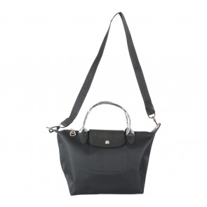 Longchamp Black Le Pliage Neo Small Satchel
