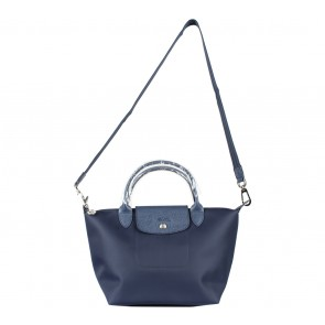 Longchamp Dark Blue Le Pliage Neo Small Satchel