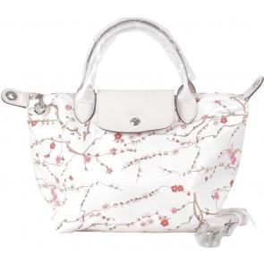 Longchamp Pink Le Pliage Neo Sakura Satchel