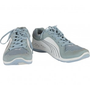 Puma White And Blue Womens L.I.F.T. Racer Sneakers