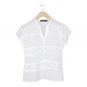 The Limited Off White Blouse