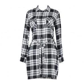 UNIQLO Black And White Plaid Mini Dress