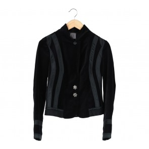 Calvin Klein Black Suede Blazer