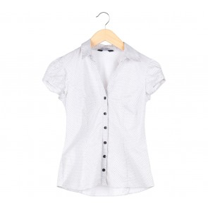 Dorothy Perkins White Polka Dot Shirt