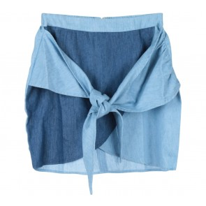 Zalora Blue And Dark Blue Tied Skirt