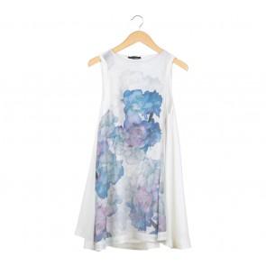 Shop At Shopee Multi Colour Floral Sleeveless Midi Dress