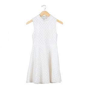 Chocochips Off White Sleeveless Mini Dress