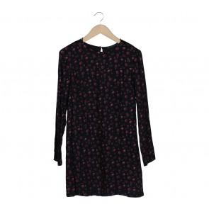 Zara Black Floral Mini Dress