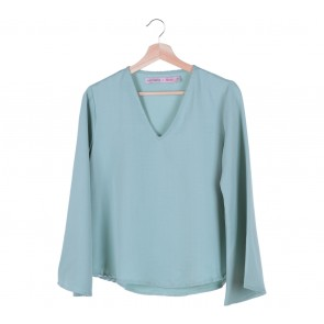 Cotton Ink Green Bell Sleeves Blouse