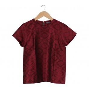 Anynome Red Hand-woven  Blouse