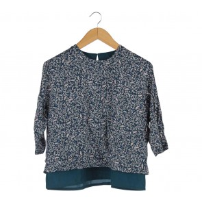 Cotton Ink Multi Colour Floral Blouse