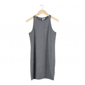 Divided Grey Sleeveless Mini Dress