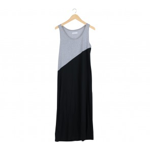 Soep Shop Grey And Black Long Dress