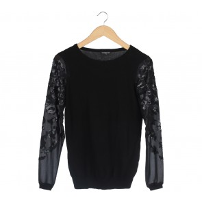 Warehouse Black Sequins Sweater