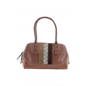 Coach Brown Leather Trim Satchel