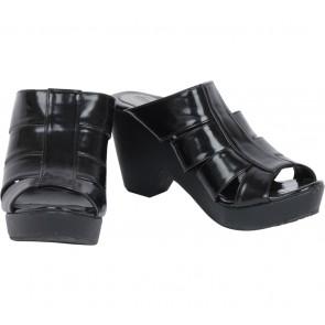 Up Black Sandals Heels