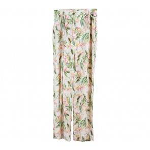 Zara Pink Leaf Culottes Pants