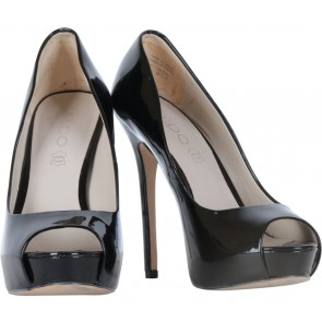 Aldo Black Open Toe Stilettos Heels