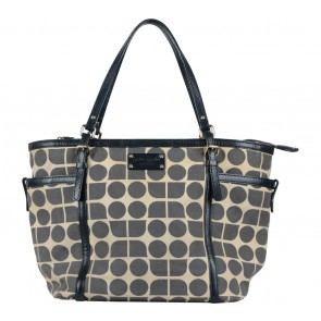 Kate Spade Blue And Cream Tote Bag