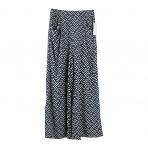 Zara Dark Blue And White Culottes Pants
