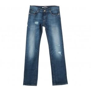 Zara Dark Blue Ripped Pants
