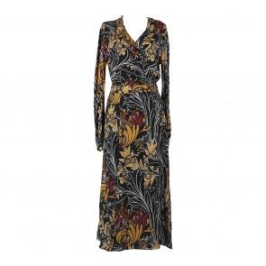 Zara Multi Colour Wrap Cut Out Midi Dress