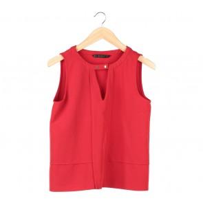 Zara Red Cut Out Sleeveless