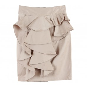 (X)SML Cream Ruffle Skirt