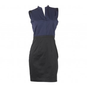 H&M Dark Blue And Black Sleeveless Mini Dress