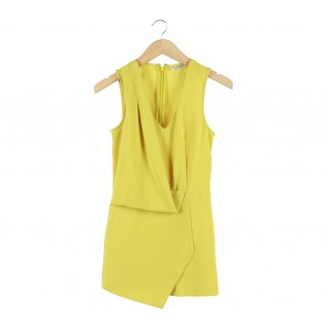 Miss Selfridge Lime Sleeveless Jumpsuit