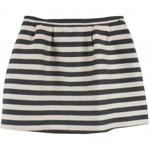 Oasis Black And Cream Striped Skirt