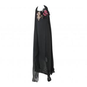 Oscar Lawalata Black One Shoulder Slit Long Dress