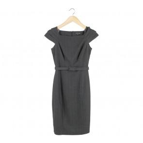Warehouse Dark Grey Midi Dress