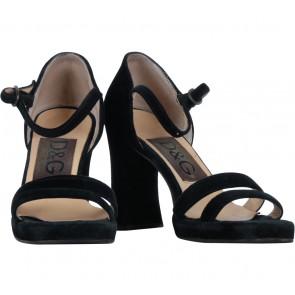 Dolce & Gabbana Black Ankle Strap Heels