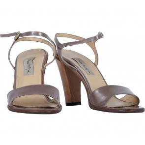 Mario Bologna Brown Ankle Strap Heels