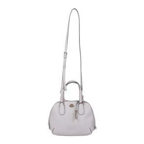 Coach Beige Prince Street Mini Satchel Crossgrain Leather Satchel